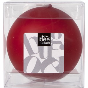Bougie boule grand format - 8 cm - Rouge
