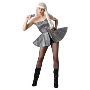 Costume adulte luxe Pop Star en polyester - 38-42 - Gris