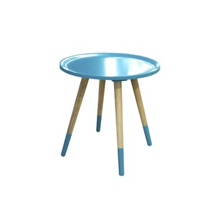Table basse ronde Poppie - Diamètre 40 x H 40 cm - Bleu