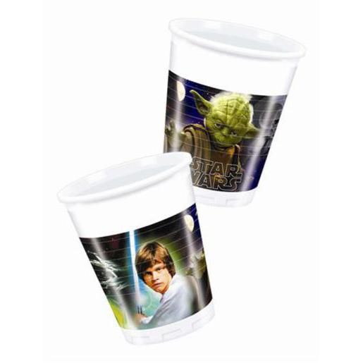 8 gobelets Star Wars - Plastique - 23 cl - Multicolore