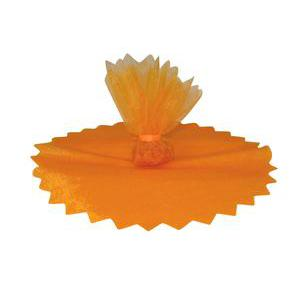 10 ronds voile brillant - ø 24 cm - Polyester - Orange