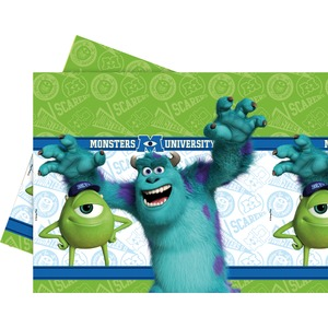 Nappe Monsters university en PEBD - 120 x 180 cm -Multicolore