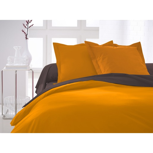 Housse de couette 100% coton - 220 x 240 cm - Orange vendange