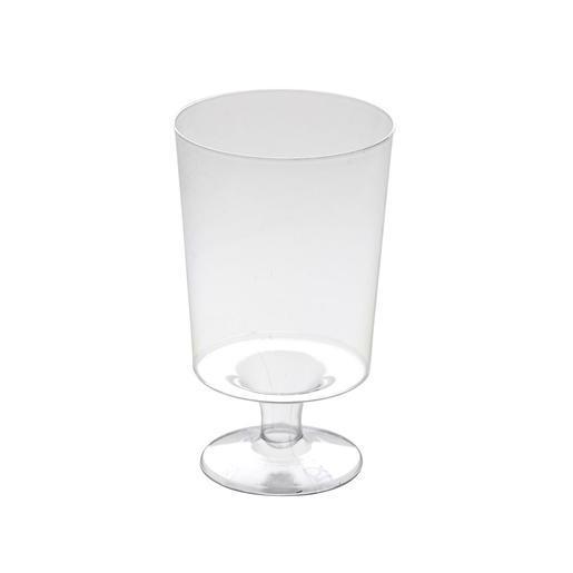 Lot de 10 verres à vin plastique blanc Gobelet