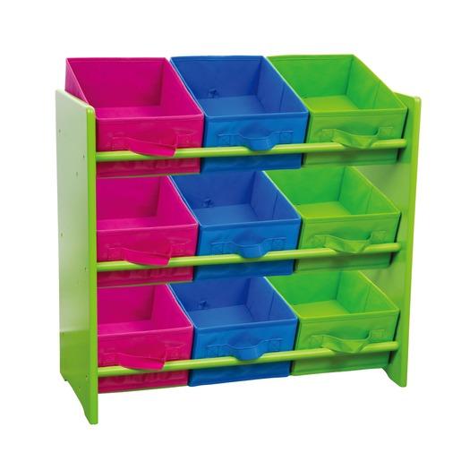 Meuble De Rangement Enfant 9 Casiers 66 X 30 X 60 Cm Vert Rose Bleu Bureaux Et Meubles Multimedia La Foir Fouille
