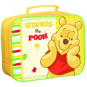 Lunch bag Winnie The Pooh en plastique - 26 x 20,5 x 8 cm -Multicolore