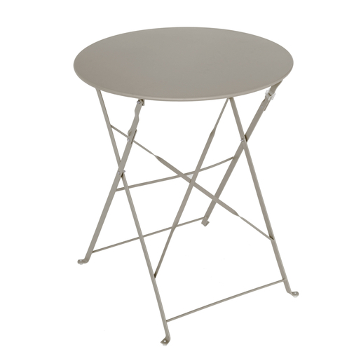 Table Diana ronde - Marron - Salon de jardin | La Foir\'Fouille