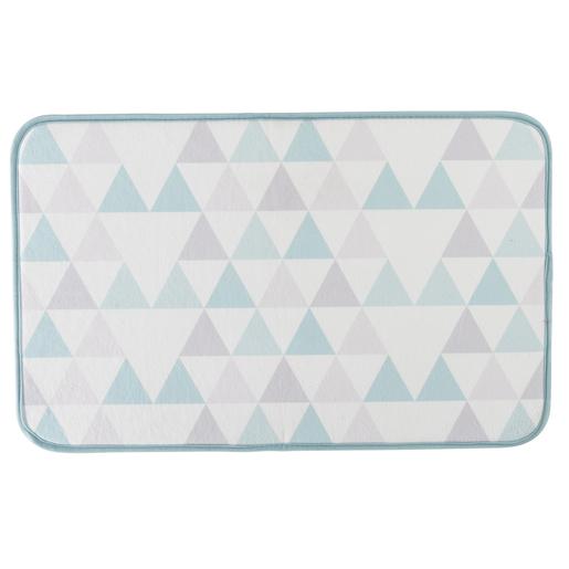Tapis Blanc Bleu Gris - Accessoires salle de bain | La Foir\'Fouille