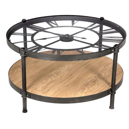 Basse Pendule Table Foir'fouille Meubles SalonLa Chrono De IgvYf6yb7
