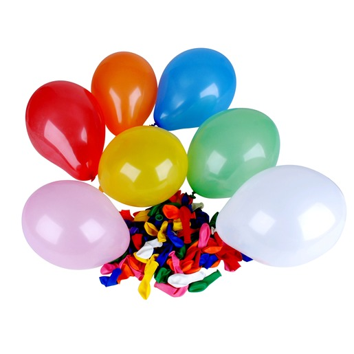 Lot de 100 ballons ronds gonflables colorés - Diamètre 25 cm - Multicolore