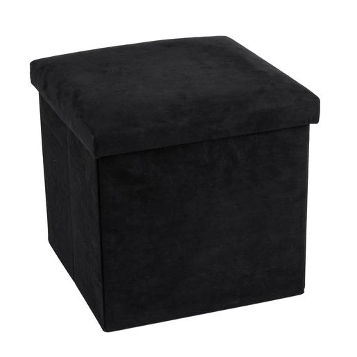 Pouf Cube Noir Produits Divers La Foir Fouille
