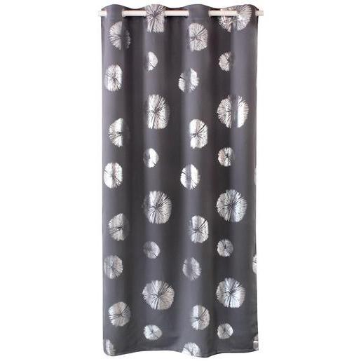 Panneau à œillets 100 Polyester Gris Rideaux Et Voilages