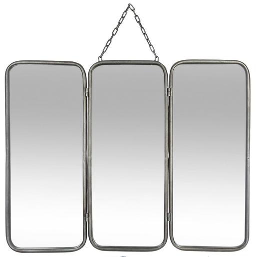 Miroir triptyque - Gris - Miroirs | La Foir\'Fouille
