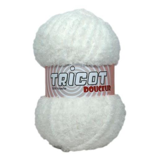 Pelote - 100% polyester - 50 g - Blanc