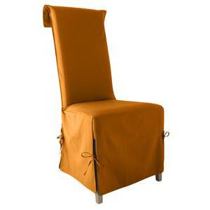 Housse de chaise panama - 40 x 40 x 72 cm - 100% coton - Orange