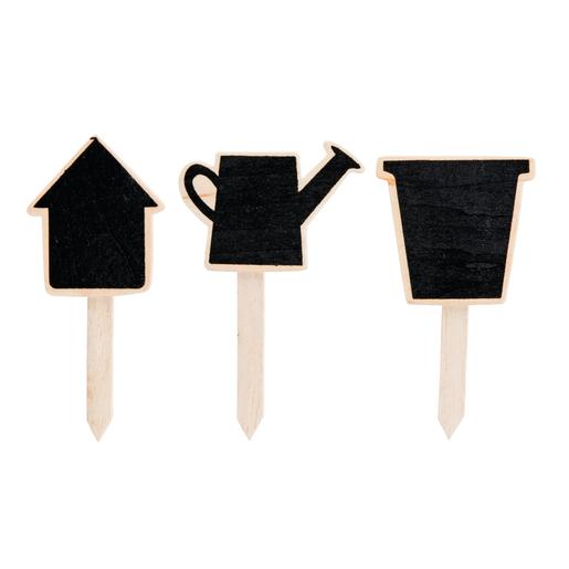 Mini ardoise - Ardoise - Bois - Noir - Beige - Outils de jardinage ...