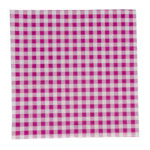 Lot de 20 serviettes vichy - 33 x 33 cm - rose fushia