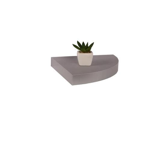 Etag re murale flottante d 39 angle argent meubles de for Etagere angle salon