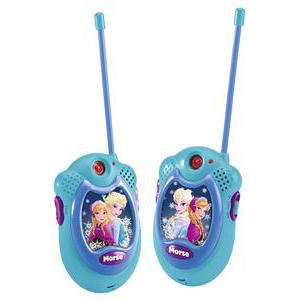 "Talkie walkie ""Frozen"" - Plastique - 7,8 x 5,1 x 24,5 cm - Multicolore"