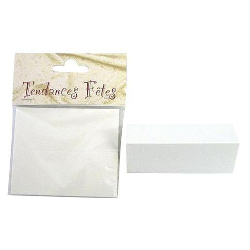 6 cartes de table collection soie - 9,5 x 8 cm - Papier - Blanc