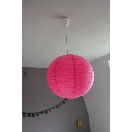 Boule japonaise luminaire papier diamètre 60 cm rose fuchsia