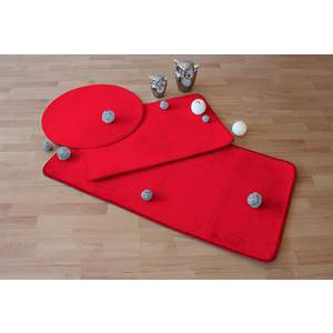 Tapis - Polyester et latex - 50 x 80 cm - Rouge