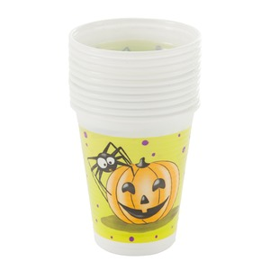 Lot de 10 gobelets en plastique halloween - 20 cl - Multicolore