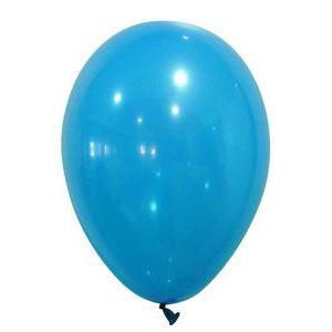 Lot de 50 ballons opaque - Latex - Diamètre 25 cm - Turquoise
