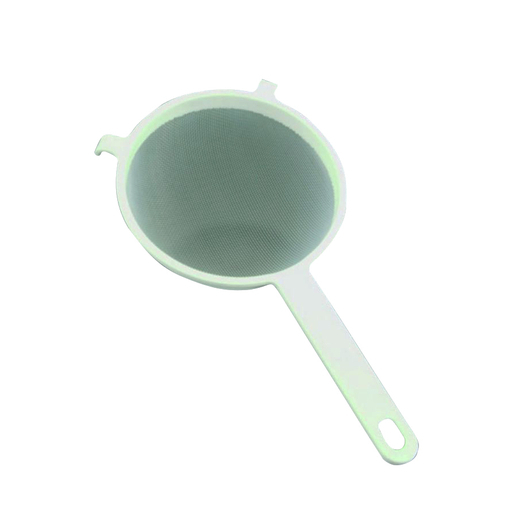 Passoire Tamis Plastique Nylon Blanc Et Gris Materiel