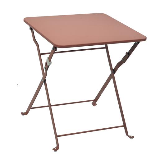 Table D Appoint Diana 40 X 40 X H 45 Cm Rouge Moorea Collection Moorea La Foir Fouille