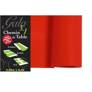 Chemin de table - Intissé - 4,8 m - Rouge