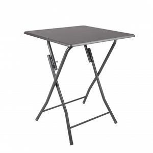 Table pliante - 60 x 60 x H 75 cm - Grise