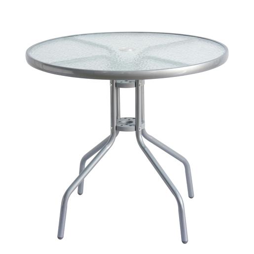 Table Bistrot - Ø 80 x H 70 cm - Gris - MOOREA - Mobilier de ...