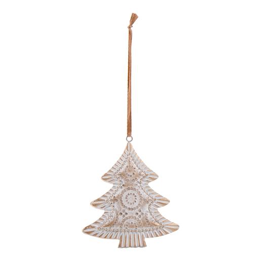 Suspension Blanc Marron Decoration De Sapin De Noel La Foir Fouille