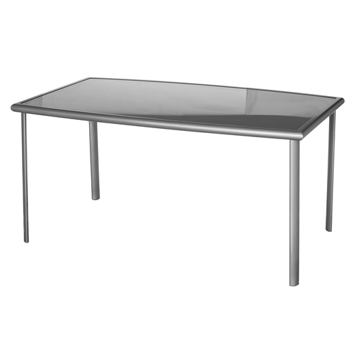 Table Moorea - 147 x 87 x H 72 cm - Gris - Salon de jardin | La Foir ...
