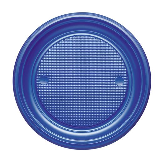 Lot de 20 assiettes en plastique - Bleu marine - Assiette ...