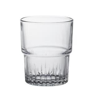 Lot de 4 gobelets en verre - 16 cl - Blanc transparent