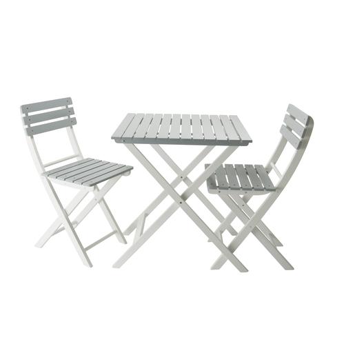 Table 2 Chaises De Jardin En Bois Differentes Tailles Gris Mobilier De Jardin La Foir Fouille