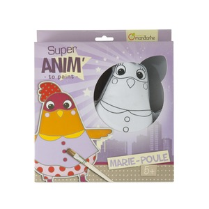 Kit Super'anim Poule - 27 x 24 cm - Multicolore