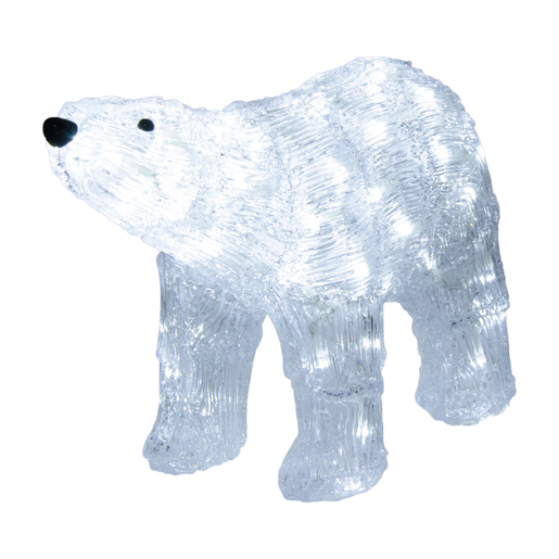 Ours Lumineux Noel Ours polaire luminaire   Blanc   Décoration lumineuse de Noël | La