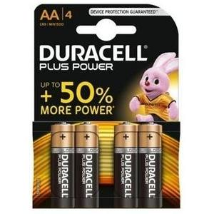 4 piles AA Duracell Plus Power