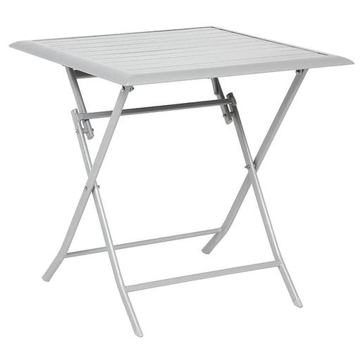 Table Azua Pliante 71 X 71 X H 71 Cm Gris Hesperide Tables De Jardin La Foir Fouille