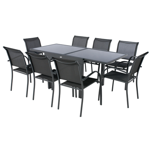 Table Piazza 8 places - Gris - Mobilier de jardin | La Foir\'Fouille