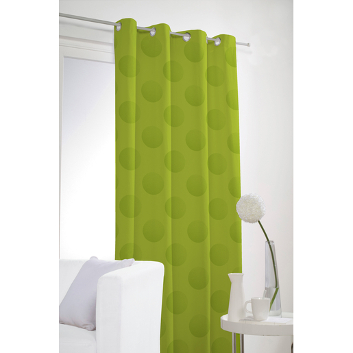 Rideau occultant - 100% polyester - 140 x 240 cm - Vert anis