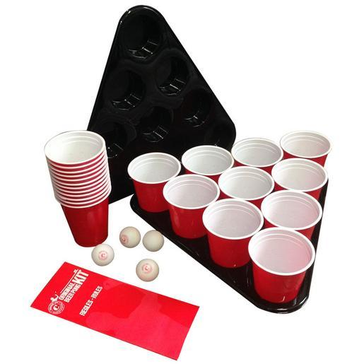 Kit Beer Pong - Plastique - Rouge - 1 Kg