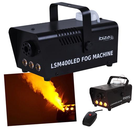 Machine à Fumée 400 W 3 Led Plastique Noir