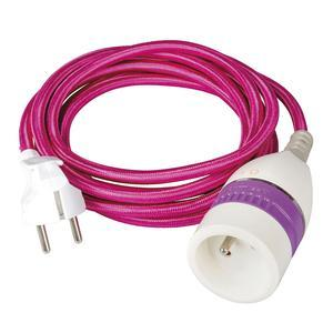 Prolongateur internet et cable - L 3 m - Violet