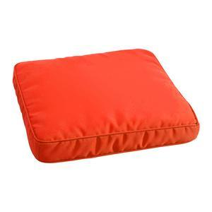 Galette de chaise - 100 % Polyester - 40 x 40 cm - Orange
