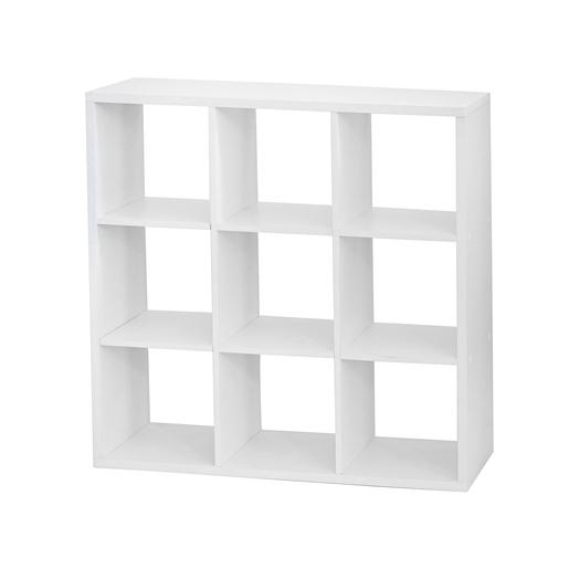etagre cube 9 cases blanc