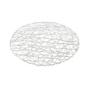 Set de table spirale - Papier - Diamètre 38 cm - Argent